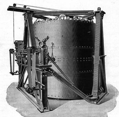 Der Seismograph als skizzierter Entwurf der Firma Spindler & Hoyer.