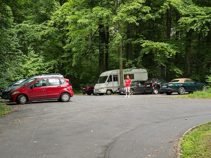 Parkplatz.