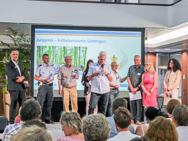 Laudatio über die Erdbebenwarte - gehalten vom Jurymitglied Hilmar Beck, dem Leiter Fachbereich Kultur der Stadt Göttingen